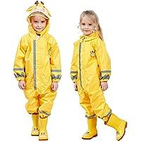 CHOee-Chen - Traje de lluvia para niños de una pieza, unisex, de cuerpo completo, impermeable