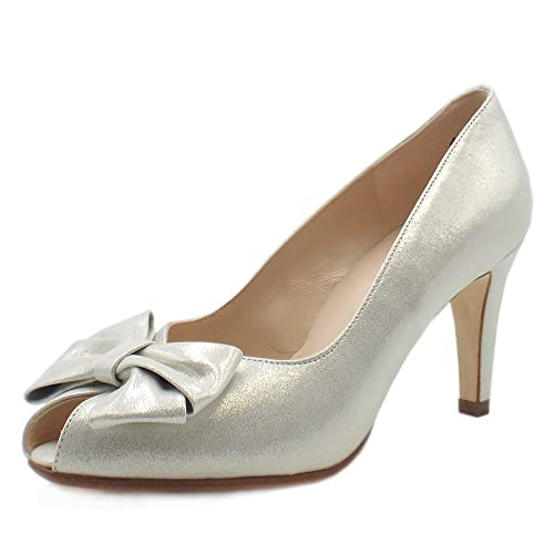separation shoes 256f1 313e0 Peter Kaiser Stila Ladies Peep Toe Shoes In White Star ...