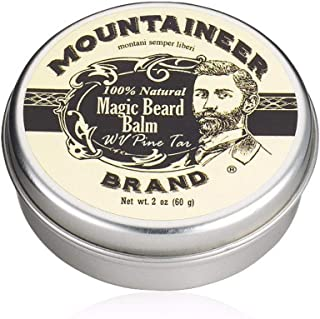 product image for Magic Beard Balm Leave-in Conditioner by Mountaineer Band | Natural Oils, Shea Butter, Beeswax Nourishing Ingredients | 2-oz WV Pine Tar Scent
