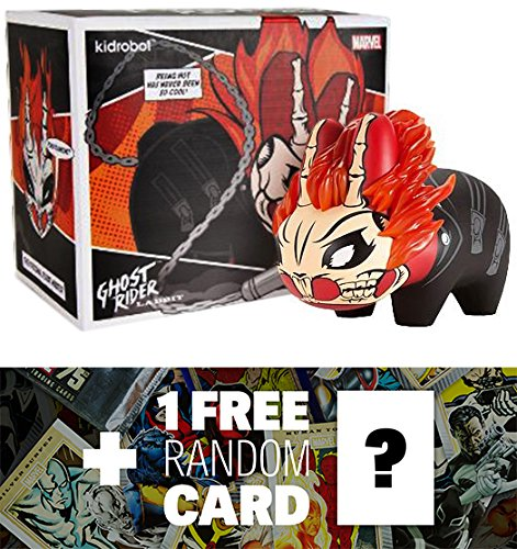 robot x Marvel Universe Labbit by Frank Kozik + 1 FREE Official Marvel Trading Card Bundle (Ghost Rider Skull)