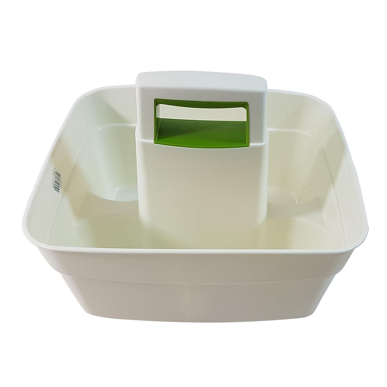 Küche Caddy creme grün Reinigung Organizer Transporter: Amazon.de ...