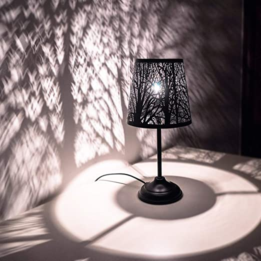 Mini Table Lamps for Bedroom Bedside, Black Forest Lighting- Metal