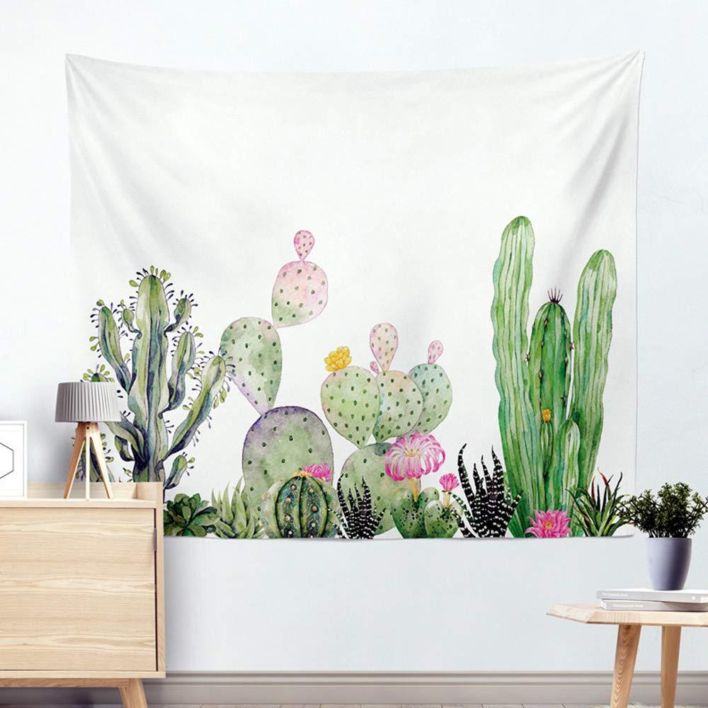 Miguor Fibre de polyester dacron Chiffon Cactus plantes artificielles Tapisserie Drap de plage Beach Sit Couverture D/écoration de la Maison 150cm 200 9.yellow Cactus