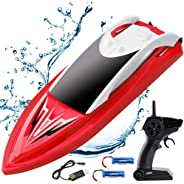 RC Boat Remote Control Boats for Pools and Lakes, ArgoHome S5B Self Righting 10km/h High Speed Boat Toys for Kids Adults Boy