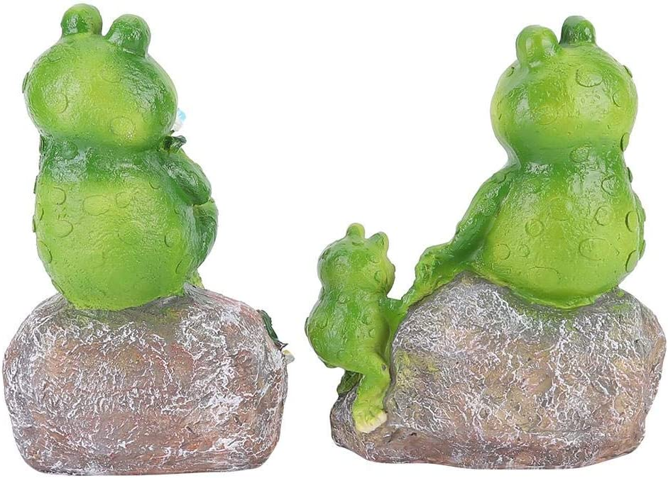 2pcs Lovely Miniature Artificial Frog Amimal Model Ornament Landscape Garden Decoration Craft for Garden Yard Patio Indoor Outdoor
