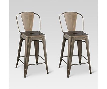 Awesome Amazon Com Carlisle Backed 24 Counter Stool Steel Set Of Creativecarmelina Interior Chair Design Creativecarmelinacom