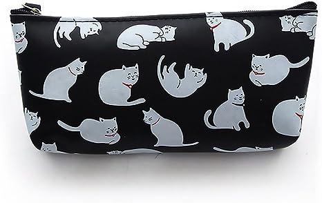 Estuche de silicona para lápices con bonito diseño de gatos, gran capacidad, multifunción, se puede usar para útiles escolares o como neceser para chicas: Amazon.es: Juguetes y juegos