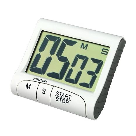 Temporizadores de cocina,Switchali Portátil Digital Reloj del temporizador de cuenta regresiva Pantalla LCD grande