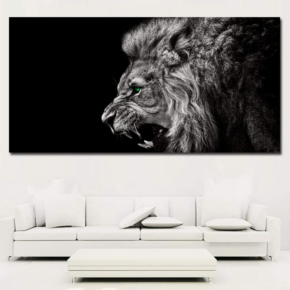 TYLPK Acuarela Lion Animal Abstract Canvas Print Cartoon Poster Art Mural Picture Ni/ños Decoraci/ón de la habitaci/ón A1 30x40cm