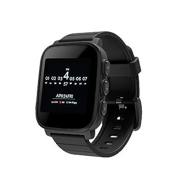PRIXTON Smartwatch SWB31 - Reloj Inteligente Sumergible con Pulsómetro y 50 Watchfaces, Color Negro