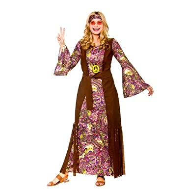 228e3d8b373 Adult Female Summer of Love Hippie Fancy Dress Costume  Amazon.co.uk   Clothing