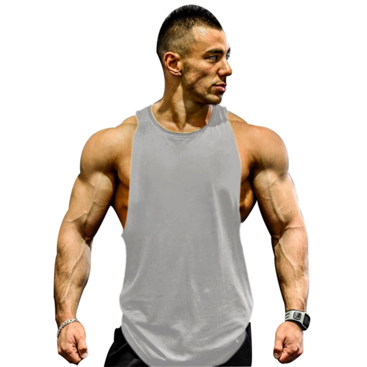 Running Vests Sports & Entertainment Mens Running Tank Top Bodybuilding Sleeveless T-shirt Suit Men Summer Sportwear Vest Sports Man Training Workout Gym Male Utmost In Convenience