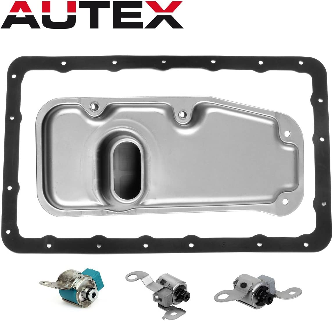 87-93 Jeep Wagoneer 87-01 Jeep Cherokee 91 92 93 Jeep Grand Cherokee AUTEX A340E A340F Transmission Master Shift TCC Lock Up Solenoid /& Filter Gasket Kit Compatible With 90 91 92 Jeep Comanchee