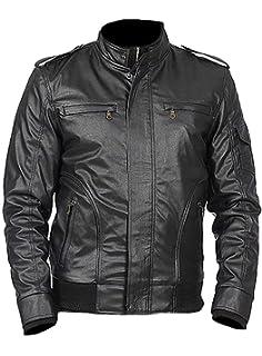 Sleekhides Mens Fashion Moto Slimfit Leather Jacket