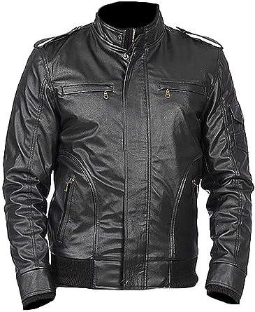 Classyak Mens Fashion Real Leather Biker Jacket