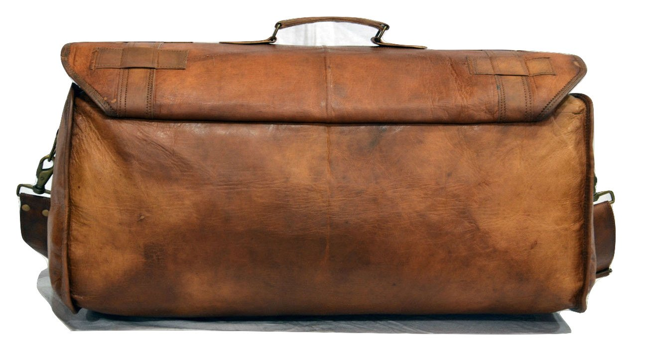 Urban Dezire Leather Duffel Travel Gym Overnight Weekend Leather Bag Sports Cabin by Urban Dezire (Image #3)