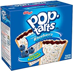 Kellogg\'s Pop-Tarts Toaster Pastries, Frosted Blueberry, 12-Count Box