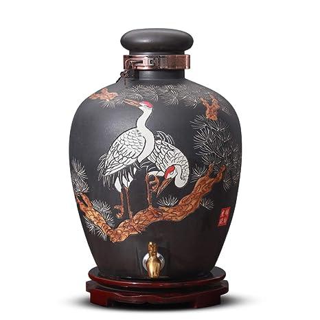 WMM-Barrels Frasco de cerámica, botella de vino de la ...