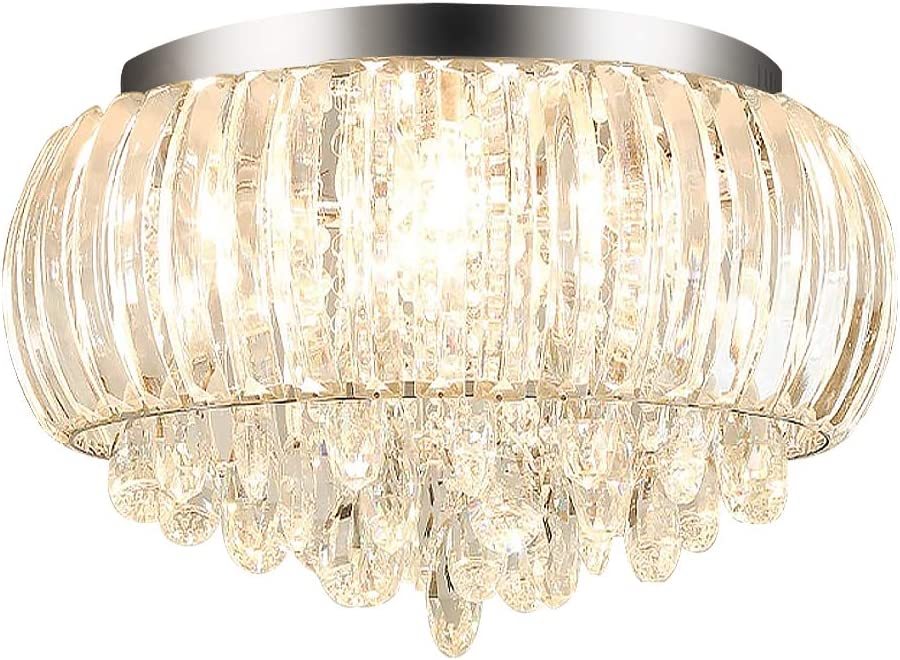 Modern Chandelier Crystals Pendant Flush Mount Ceiling Light Crystal Ball Light Fixture for Hallway, Bedroom, Living Room, Kitchen, Dining Room D 50cm 8-Light