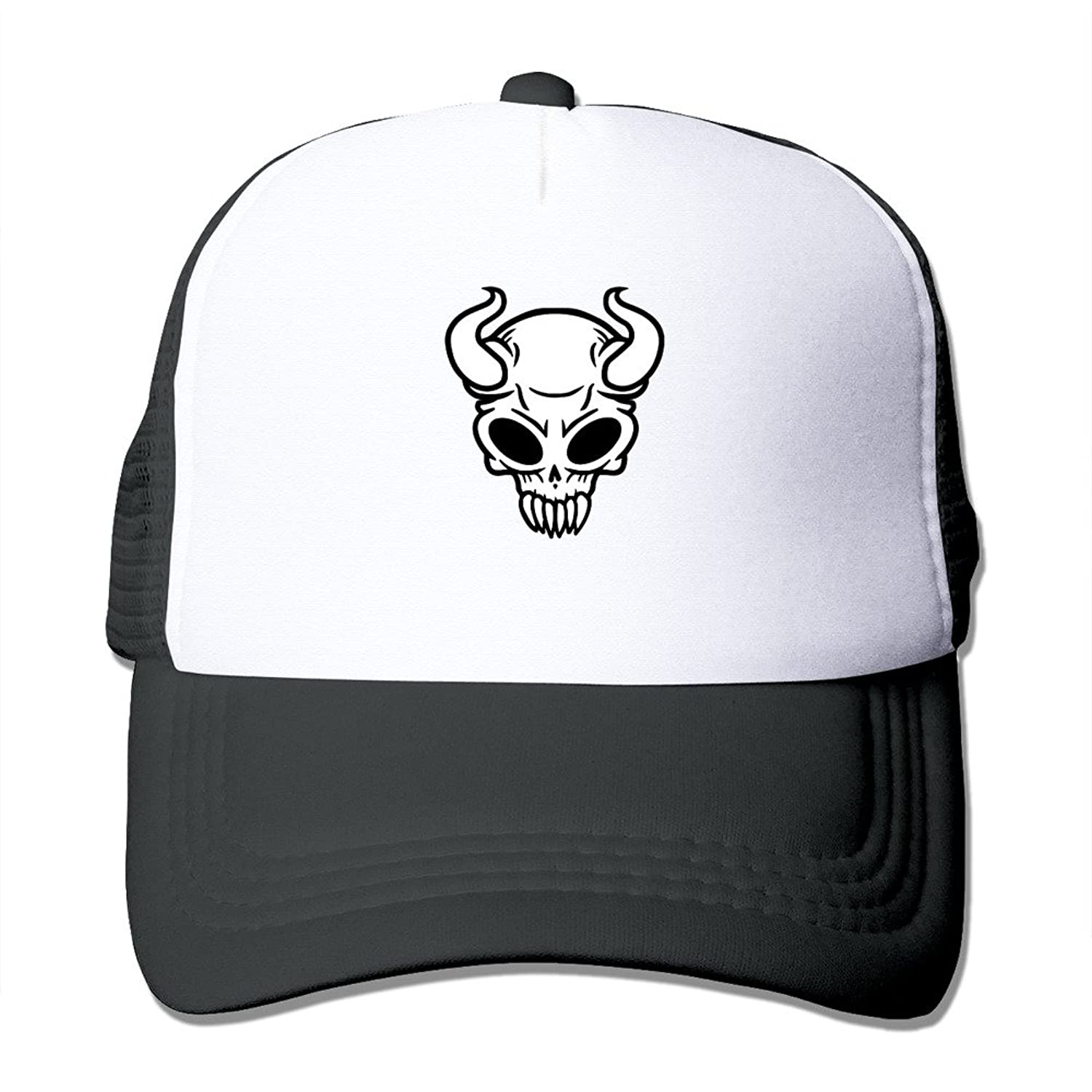 POPYol Unisex Skull Evil Adjustable Mesh Baseball Hats Caps
