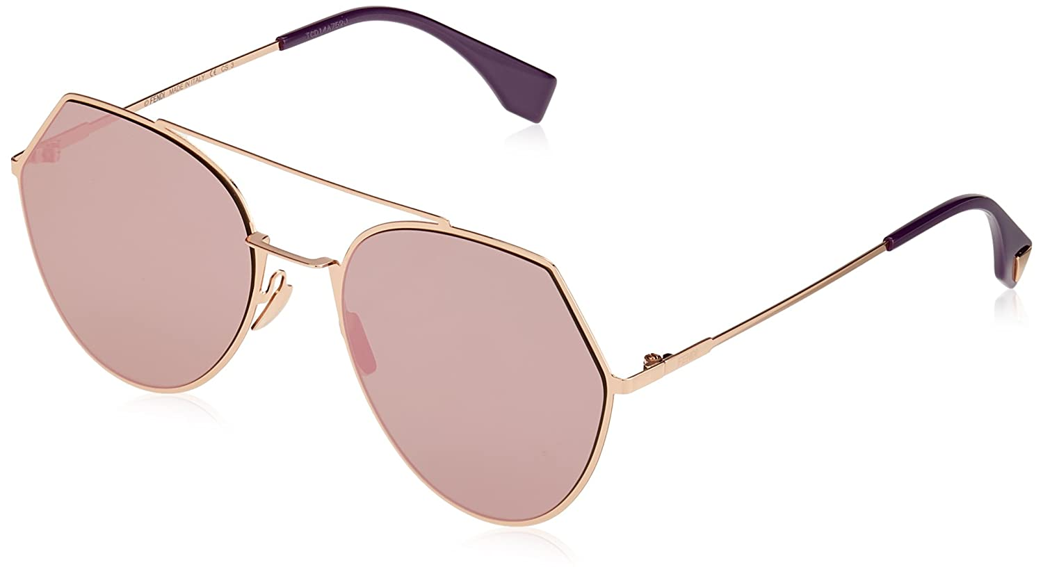 Fendi FF0194S DDB Gold Copper 0194S Round Sunglasses Lens Category 3 Lens  Mirro