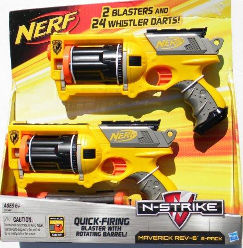 Nerf N-strike Maverick Rev-6 2 Pack - Nerf N-strike Maverick Blaster