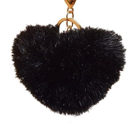 timeracing Fashion Cute Bola de piel sintética 10 cm pompón ...
