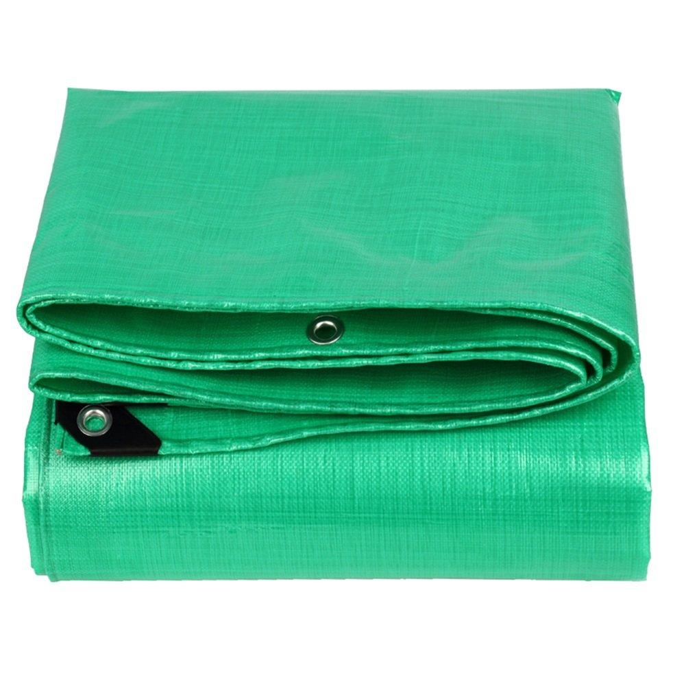 CHAOXIANG オーニング 厚い 折りたたみ可能 アンチサン 不凍液 耐寒性 耐高温性 アンチエイジング 耐摩耗性 軽量 PE グリーン、 210g/m 2、 厚さ 0.38mm、 22サイズ (色 : 緑, サイズ さいず : 4×8m) B07D332FS6 4×8m|緑 緑 4×8m