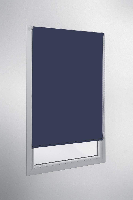 Verdunkelungsrollo nach Maß, blickdicht, hochqualitative Wertarbeit, alle Größen Größen Größen und 21 Farben verfügbar, Rollo nach Maß, für Fenster und Türen, Klemmfix ohne Bohren (250cm Höhe x 120cm Breite   Weiß) B07JH fd7ff9