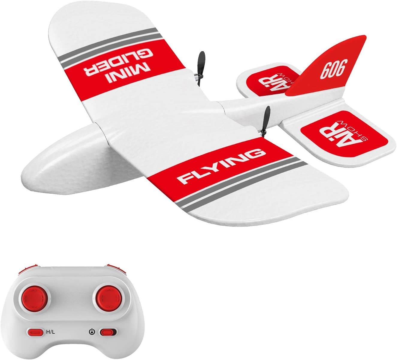 KF606 2.4Ghz Remote Control Airplane EPP Foam Fixed Wing Plane GoolRC RC Plane RTF Ready to Fly Gliding Aircraft Model Toys with 3 Battery for Beginner
