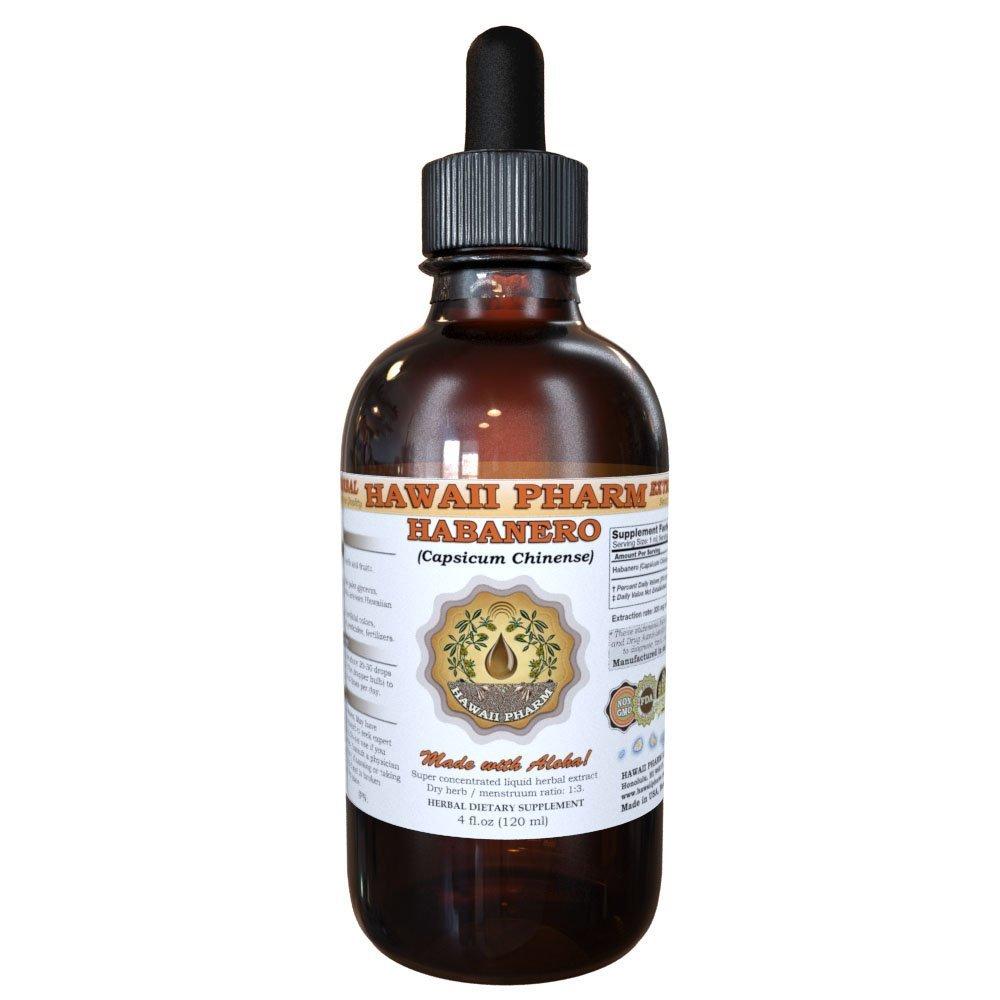 Habanero Liquid Extract, Organic Habanero (Capsicum chinense) Tincture Supplement 4 oz