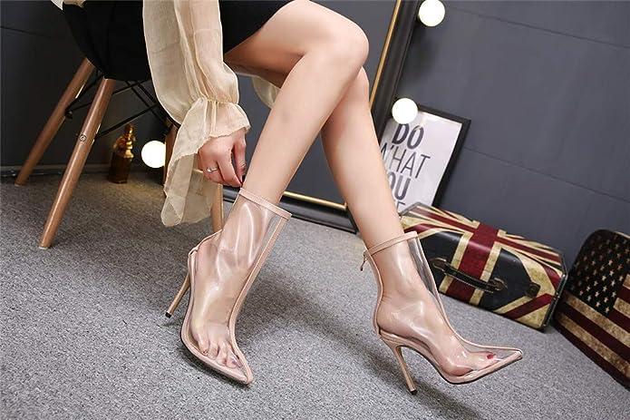 Scarpe col Tacco Stivali di Bellezza Europei in PVC