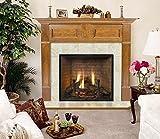 Wellington Rectangular Flush Fireplace Mantel in English Chestnut Finish (Custom Cherry 40 in. x 48 in.)