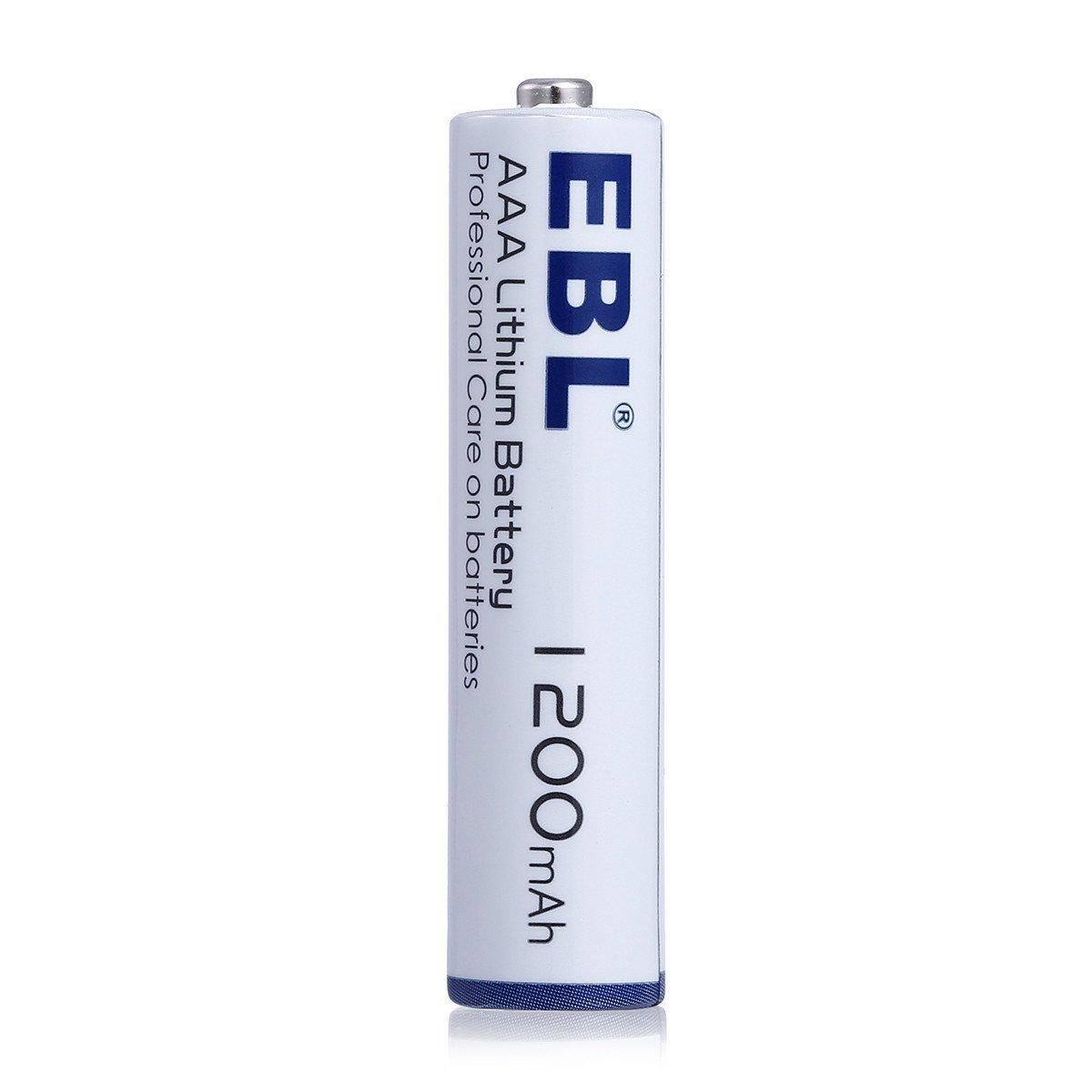 EBL AAA Litio Baterías 1.5V 1200mAh para los Equipos Domésticos - 8 Unidades (NO ES RECARGABLE)