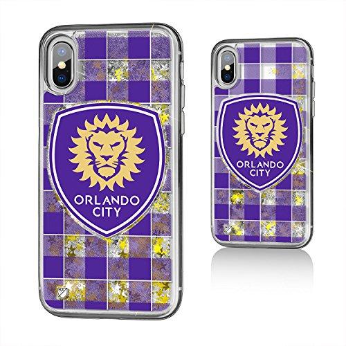 Keyscaper Orlando City Soccer Club Plaid iPhone X Gold Glitter Case MLS by Keyscaper