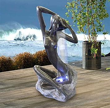 Traumhafter Gartenbrunnen LED Zimmerbrunnen 101x52x43cm Akt Skulptur  U0027Anmutige Schönheitu0027 Brunnen Luftbefeuchter Zierbrunnen Indoor U0026