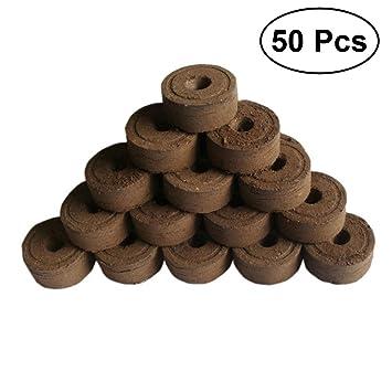 OUNONA - 50 piezas de pellets de turba comprimidos para plantar en interiores para trasplantar al jardín o maceta: Amazon.es: Jardín