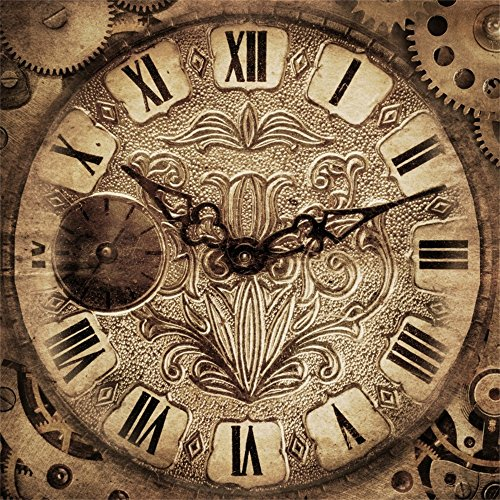 - LFEEY 6x6ft Old Vintage Clock Backdrop Theme Party Birthday Mystery Retro Holiday Clock Wallpaper Photography Background Men Adults Photo Studio Props