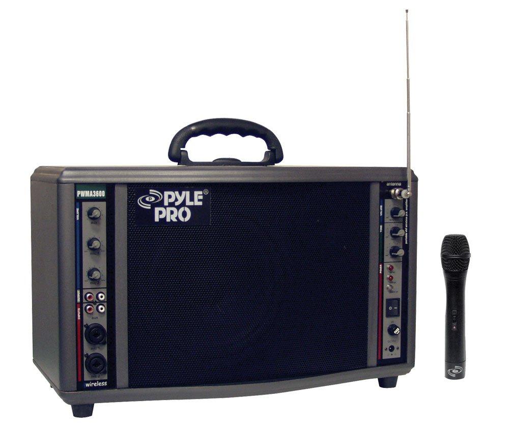 Pyle-Pro PWMA3600 200-Watt Battery Powered PA System with Wireless Mic