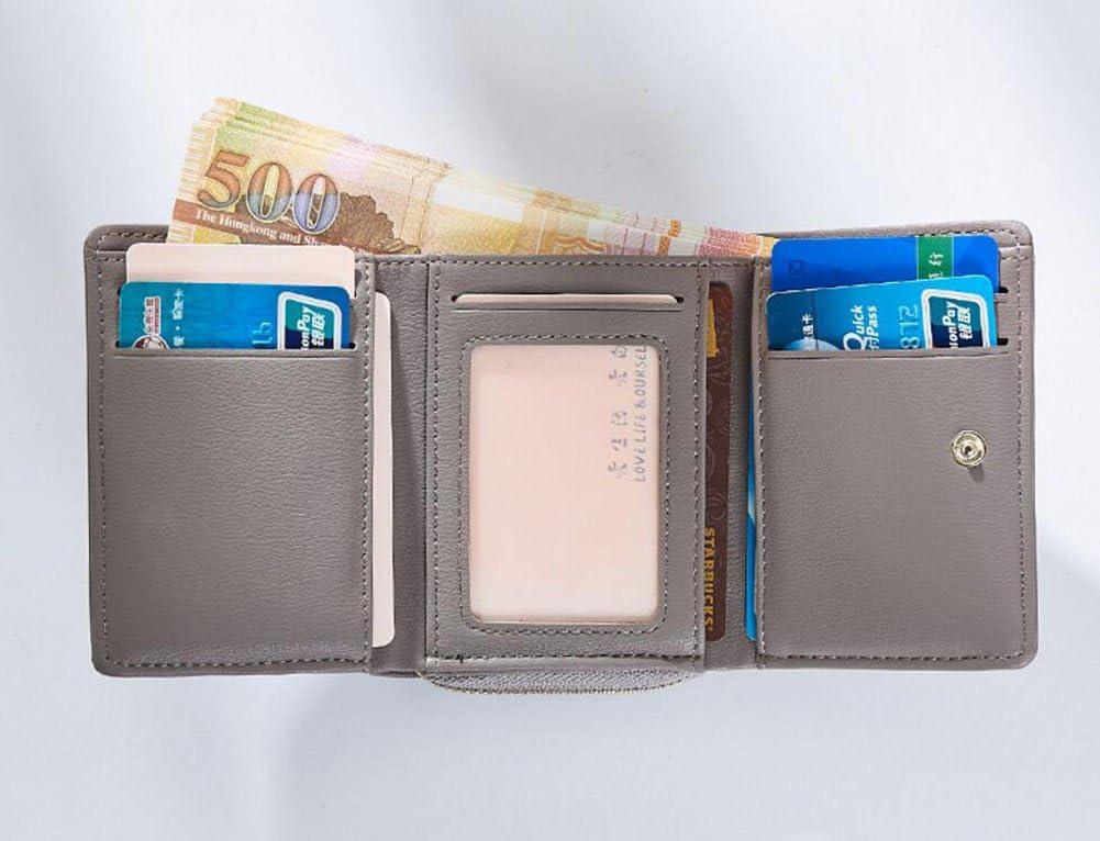 Diyafas Cartera Corta Mujer Borla Tarjetero Monedero con Cremallera Billetera Bolso Peque/ño para Mujer
