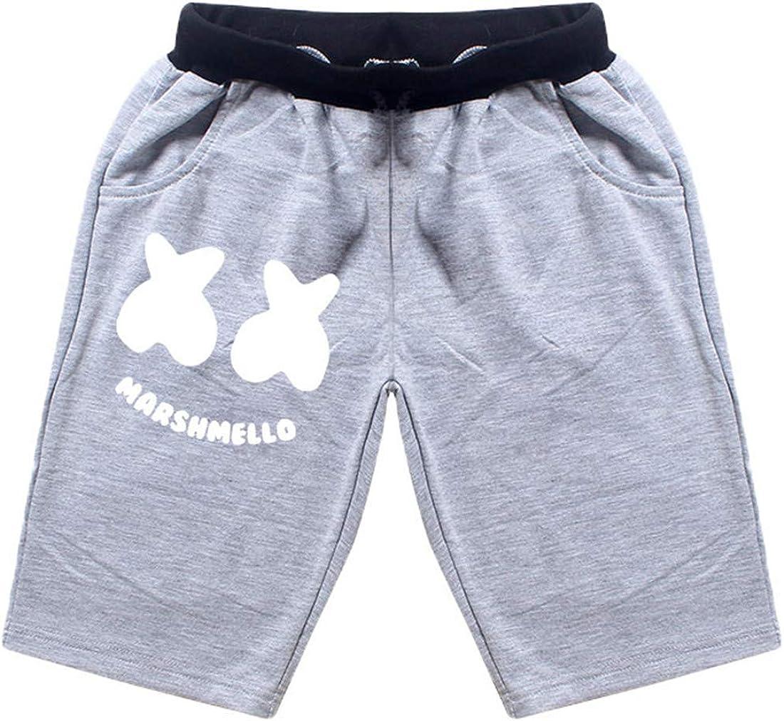 Cap Chothing Set Shorts DIDIXIANG Boys DJ Smiley Face Print T Shirt