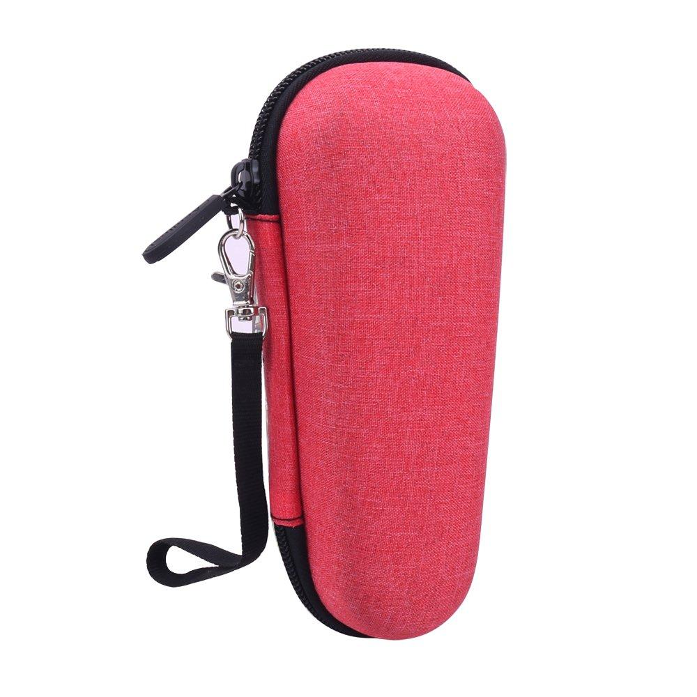 Storage Organizer Travel Hard Case for Schick Hydro Silk TrimStyle Moisturizing Razor for Women Bikini Trimmer by Aenllosi (Red)