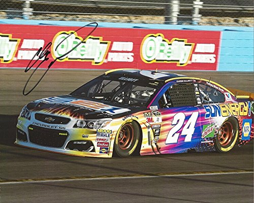 (AUTOGRAPHED 2016 Chase Elliott #24 SunEnergy1 WATKINS GLEN ROAD COURSE RACE (Rookie Season) Hendrick Sprint Cup Series Signed Collectible Picture NASCAR 8X10 Inch Glossy Photo with COA)