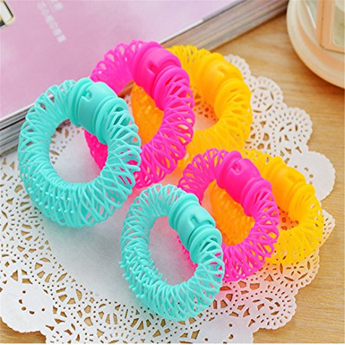 8Pcs New Hair Styling Roller er Plastic Hair Curler Curler Spiral Curls DIY Tool Hair Accessories by HAHUHERT (Image #4)