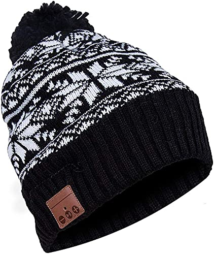 BestFire Bluetooth Beanie Hat Warm Knit Winter Hat Cap with Wireless Headphone Earphone Headset Speaker Mic, Hands Free for Women Outdoor Sports Skiing Snowboard Skating Hiking