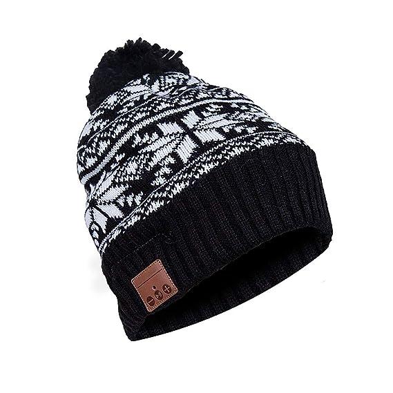 6a0d3dbfeb2 BestFire Beanie Hat Warm Knit Winter Hat Cap with Wireless Headphone  Earphone Headset Speaker Mic
