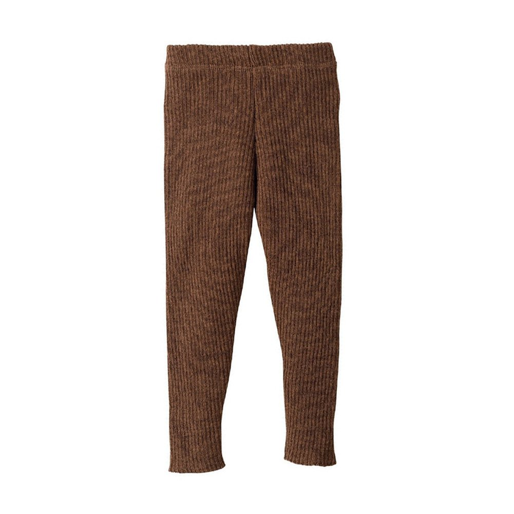 Disana Organic Merino Wool Knitted Leggings (3-6 Months, Hazelnut) by Disana