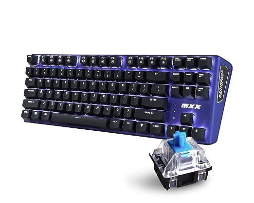 15 opinioni per Rantopad MXX Tastiera da gioco meccanica a 87 tasti Mono-Blue-Blue