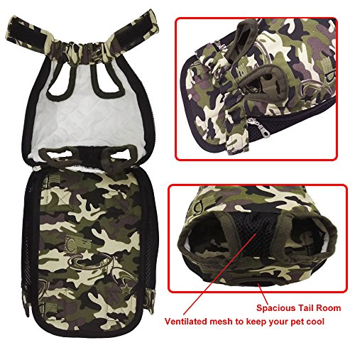 HANCIN Pet Carrier - Cat Dog Legs Out Front Pack, Camo, Small Size