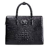 Genuine Leather Men Bag Business Men Handbag Laptop Bag Crocodile Skin Briefcase